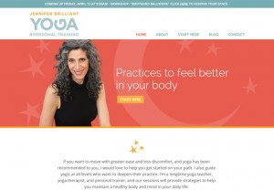 website for a yoga therapist