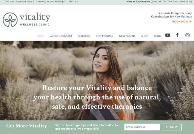 Naturopathic website design